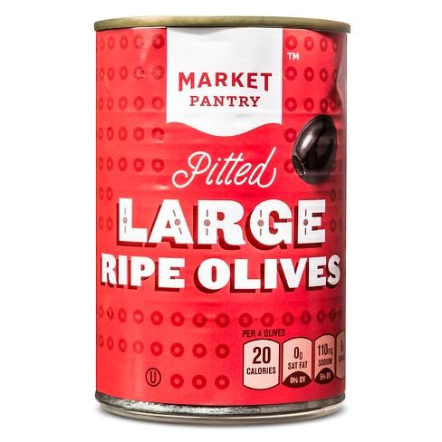 Large Pitted Black Olives - 6oz - Market Pantry™ - image 1 of 1