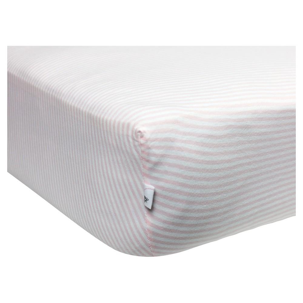 Burt's Bees Baby Organic Fitted Crib Sheet - Bee Essentials - Pink