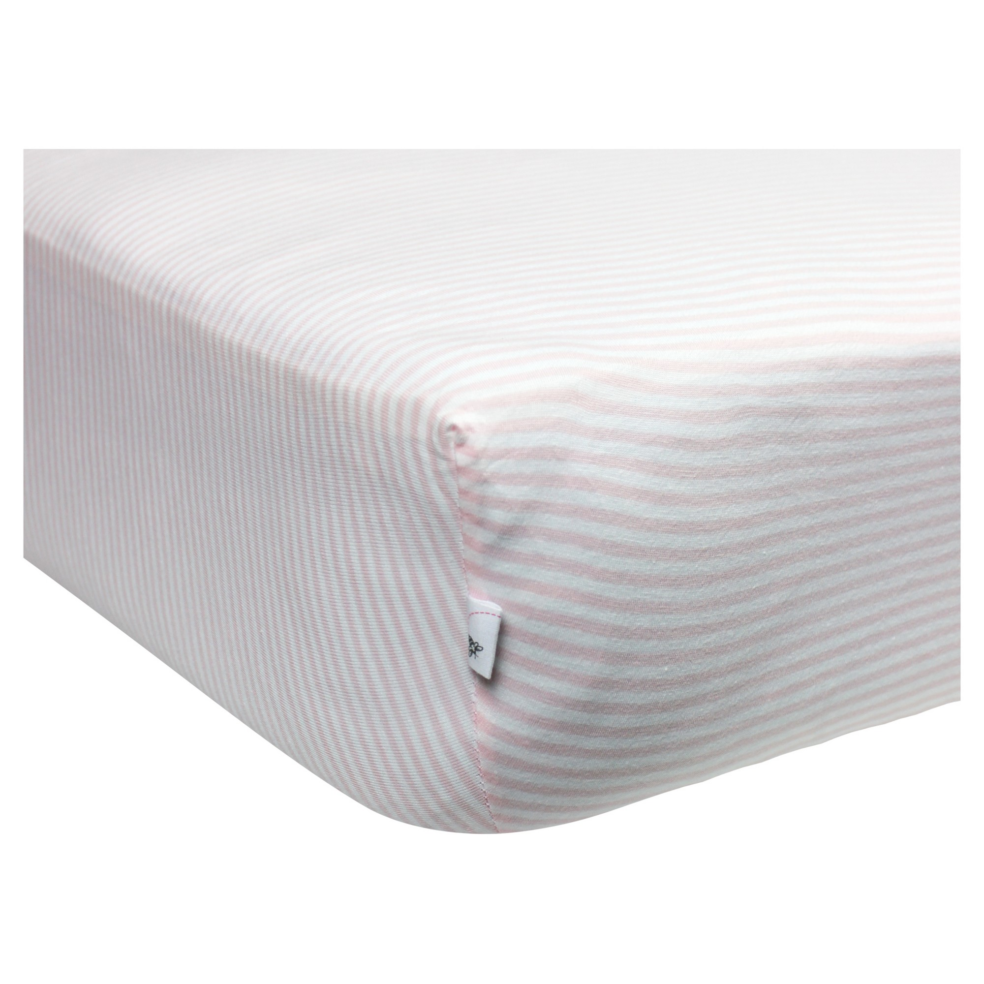 Burt's Bees Baby Organic Fitted Crib Sheet - Bee Essentials - Pink