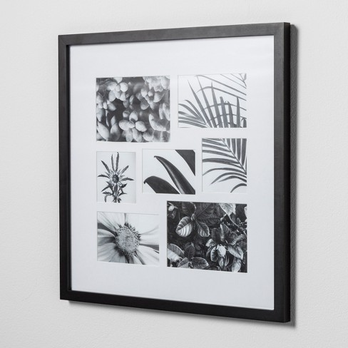Thin Collage 7 Multi-Size Photo Frame Black - Made By Design™ : Target
