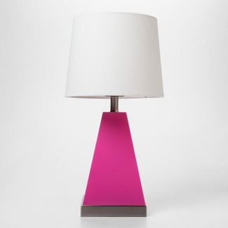 Pink & Silver Triangle Light Up Table Lamp - Pillowfort™