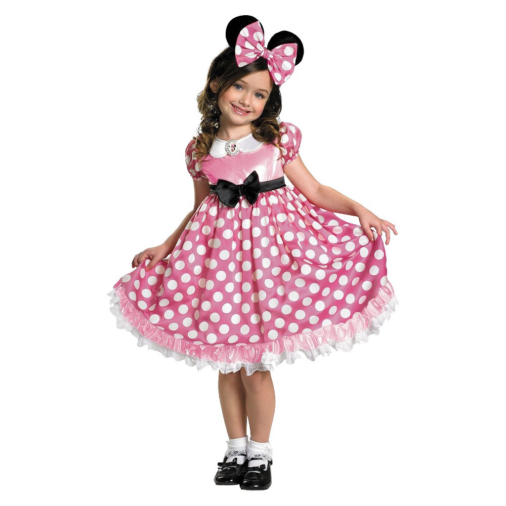 Image of Halloween Minnie Mouse Glow in the Dark Girls' Costume - 3T-4T, Girl's