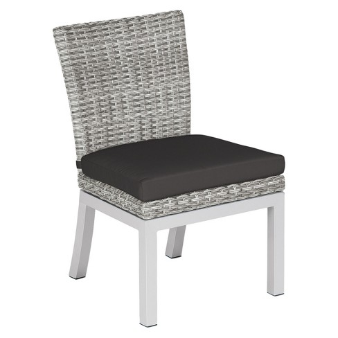 Travira Set Of 2 Woven Patio Dining Chairs Argento Resin Wicker