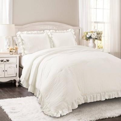 Full/Queen Reyna Comforter Set White - Lush Décor