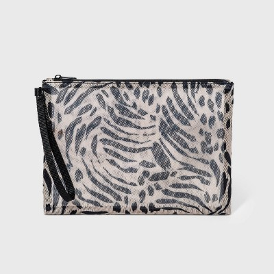 Animal Print Zip Closure Mesh Pouch Clutch - Shade & Shore™