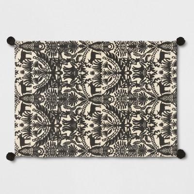 Black/White Eulalia Woven Tasseled Accent Rug 2'X3' - Opalhouse™