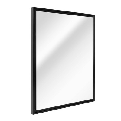 "26.5"" x 32.5"" Studio Float Wall Mirror Black - Head West"