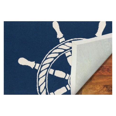 Frontporch Ship Wheel Indoor Outdoor Rug Liora Manne