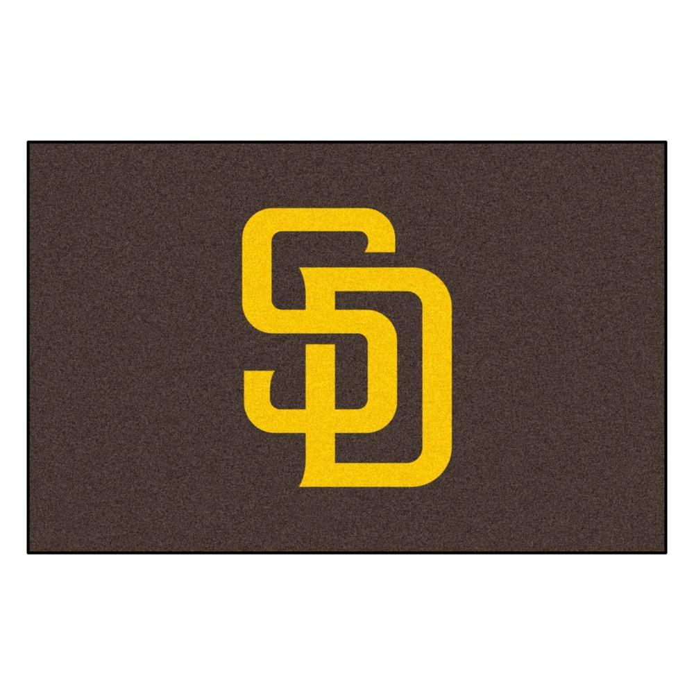 Mlb San Diego Padres Starter Rug 19 X30