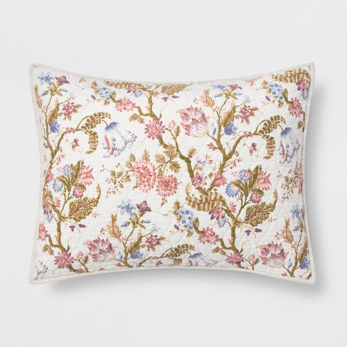 Jacobean Floral Sham - Threshold™ - image 1 of 2