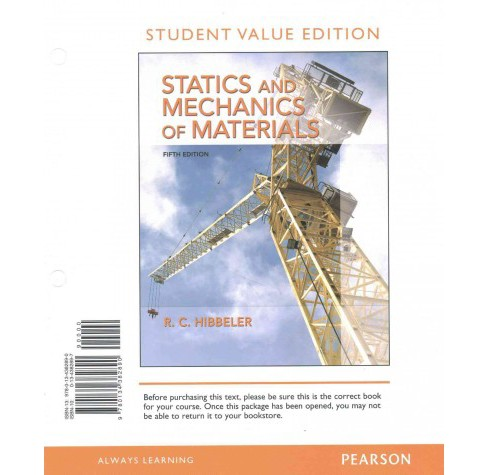 Statics and Mechanics of Materials (Paperback) (R. C. Hibbeler) - image 1 of 1