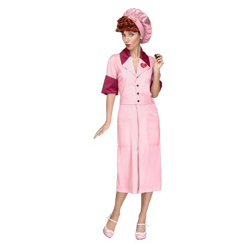 Women s I Love Lucy Lucy Candy Factory Costume - Adult Small   Target 31a2e57676