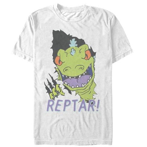 Men S Rugrats Reptar Claw Rip T Shirt