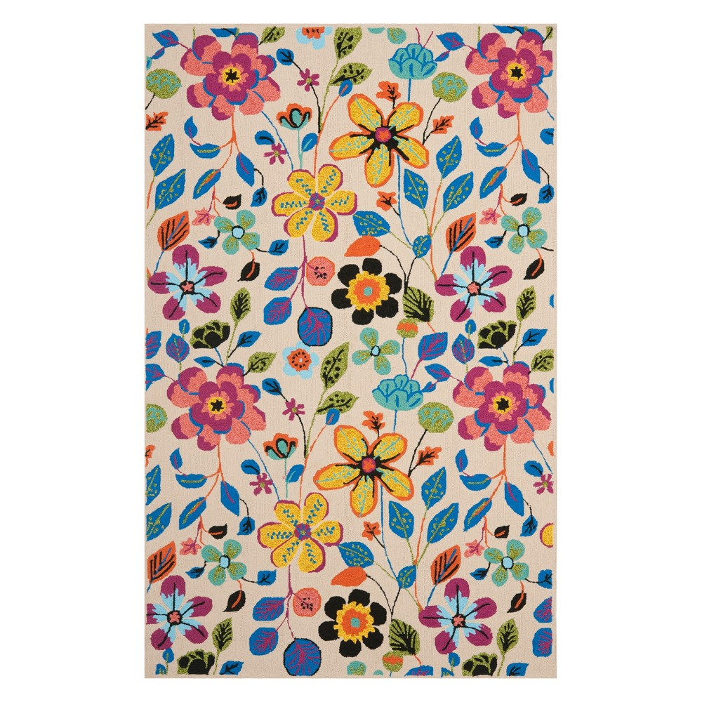 5X8 Floral Area Rug Ivory - Safavieh Compare