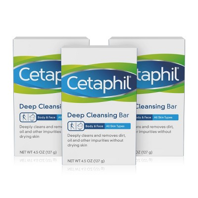 Cetaphil Deep Cleansing Bar Soap - 3pk - 4.5oz each