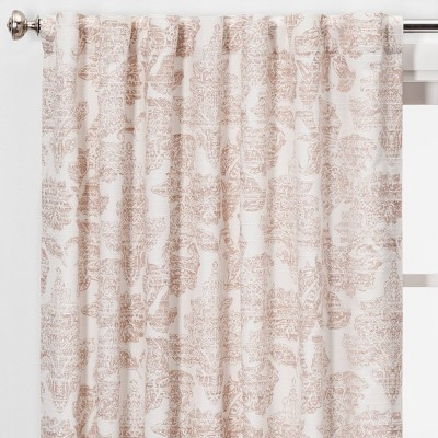 84 54  Charade Floral Light Filtering Curtain Panel Pink - Threshold™