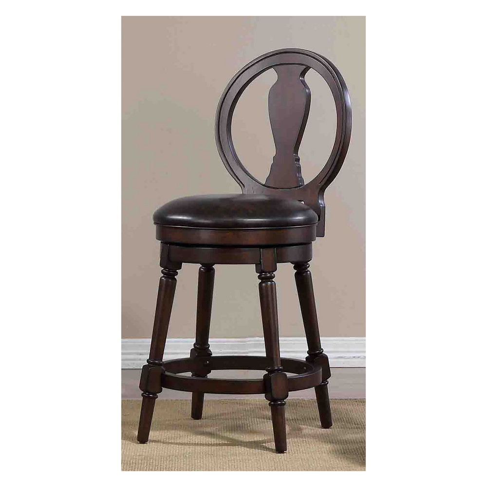 """Image of """"40.5"""""""" Candace Counter Height Swivel Stool Walnut Brown - Foremost"""""""