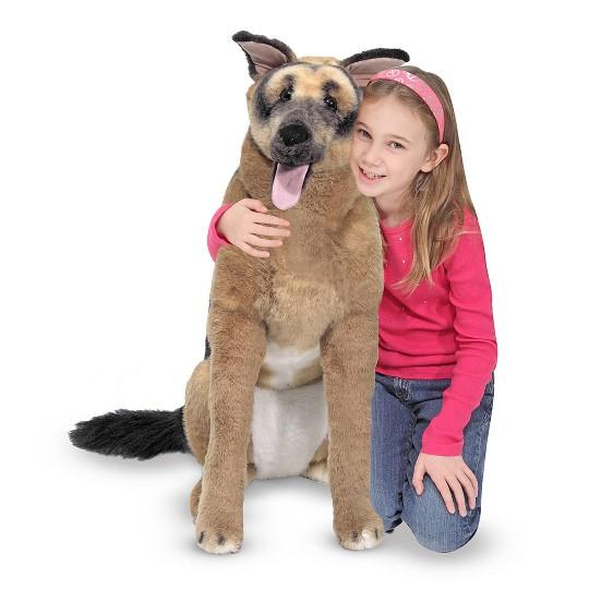 Melissa & Doug Giant German Shepherd - Lifelike Stuffed Animal Dog (over 2 feet tall) image number null