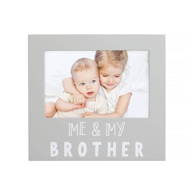 "Pearhead Me And My Brother Sentiment Frame 4"" x 6"" Gray"