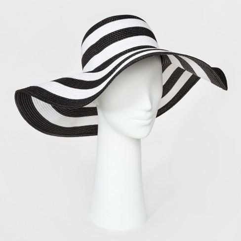 Women s Floppy Hat - A New Day™ Black White   Target 9fbc1d5a989