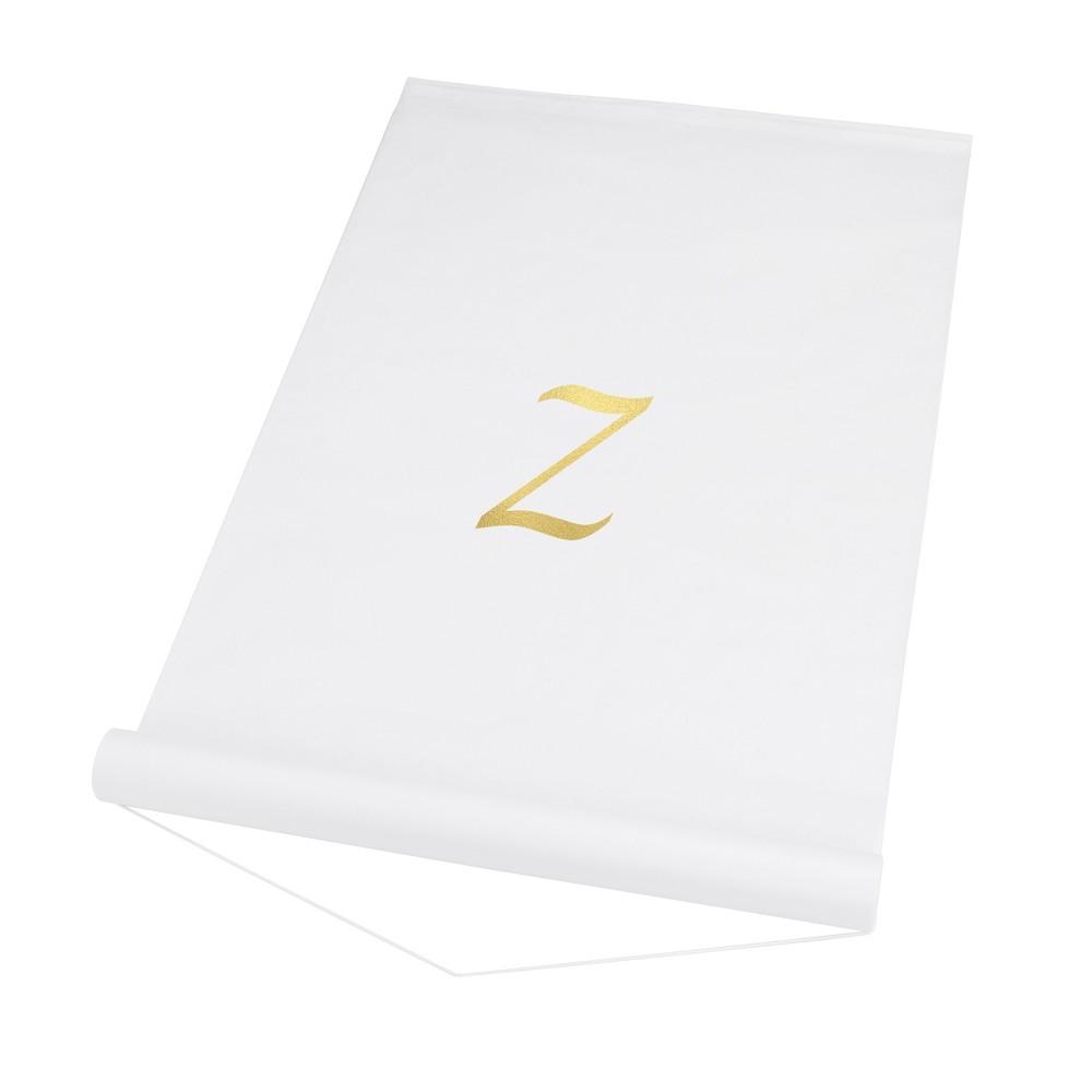 34 Z 34 Personalized Wedding Aisle Runner White
