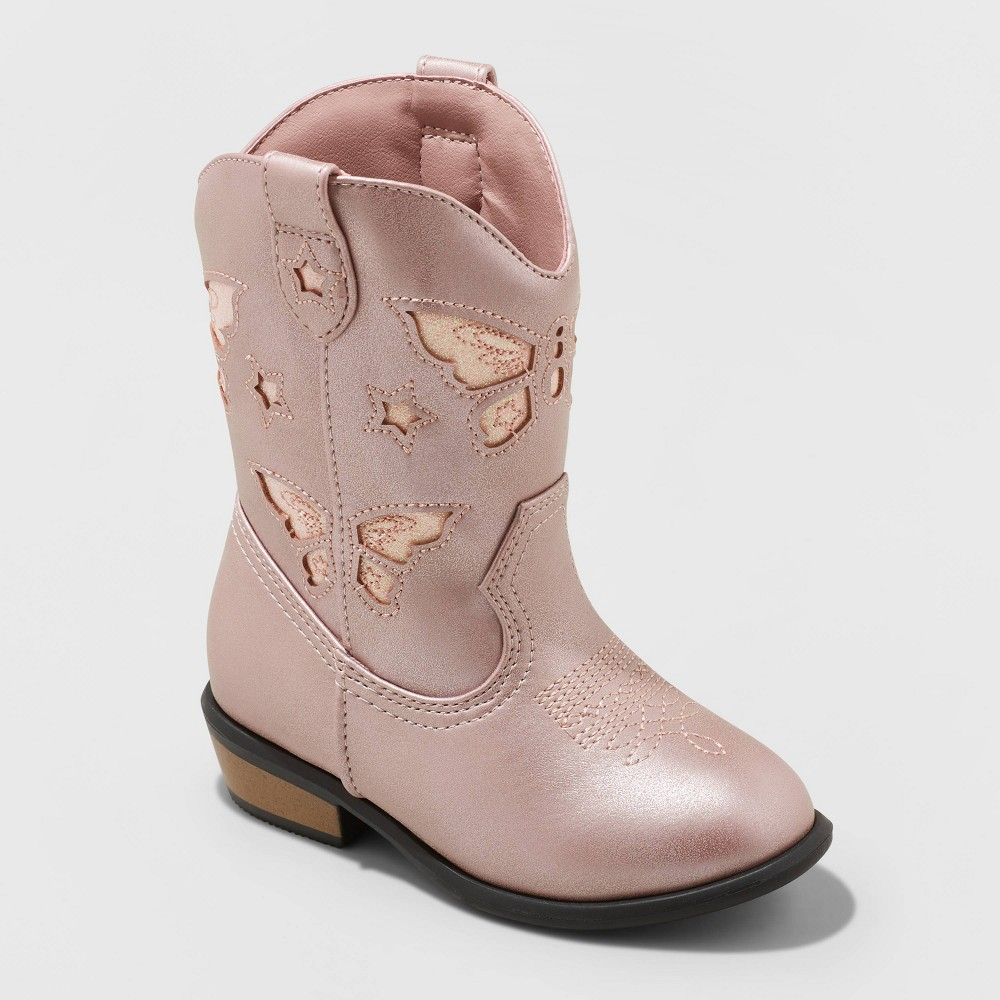 Image of Toddler Girls' Riley Western Boot - Cat & Jack Pink 6, Girl's