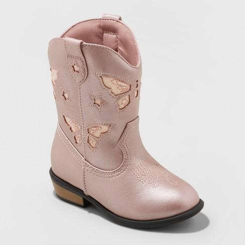 Toddler Girls' Riley Western Boot - Cat & Jack™ Pink - image 1 of 3