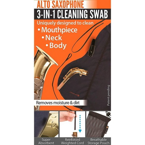 Protec 3-in-1 Alto Saxophone Swab (Body, Neck, and Mouthpiece) - image 1 of 2