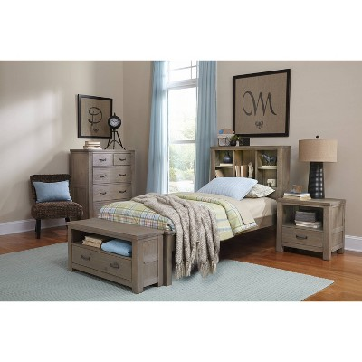 Kids' Twin Highlands Bookcase Bed Driftwood - Hillsdale Furniture