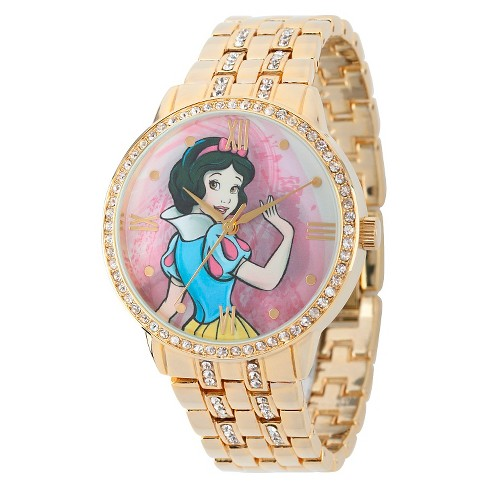 Women's Disney® Snow White  and  Prince with Alloy Case - Gold - image 1 of 2