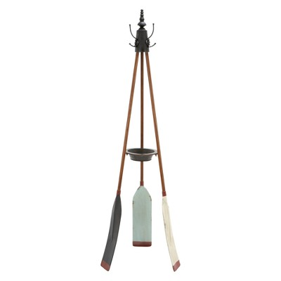 Metal Nautical Style Coat Rack Tripod Base - Olivia & May