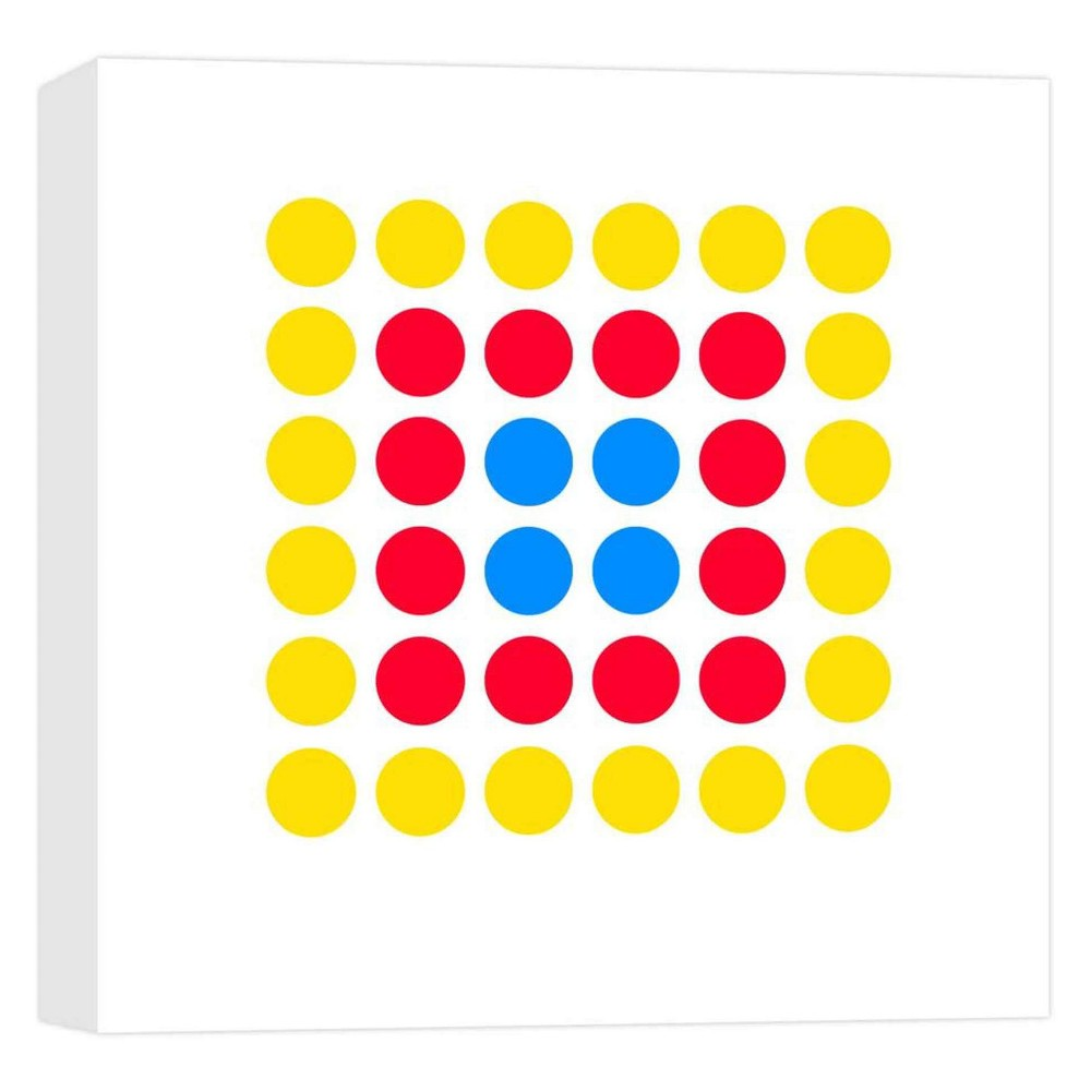 Dots Connection IV Decorative Canvas Wall Art 16x16 - Ptm Images, Multi-Colored