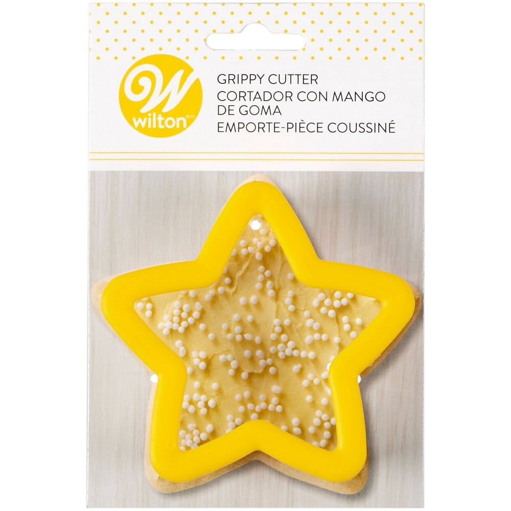 Image of Wilton Star Grippy Cookie Cutter - Yellow