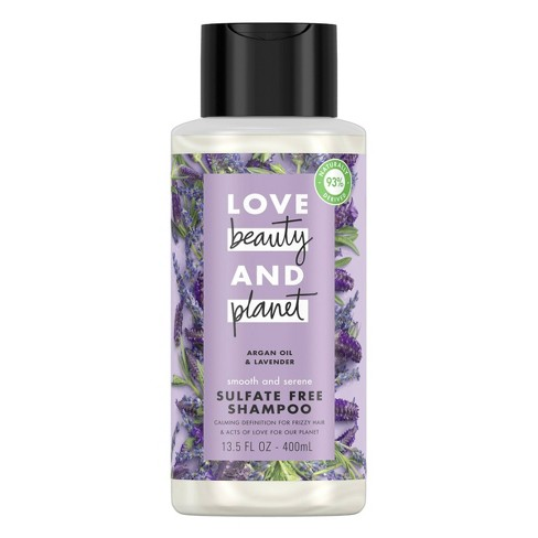 Love Beauty & Planet Argan Oil & Lavender Smooth & Serene Shampoo - 13.5 fl oz - image 1 of 4