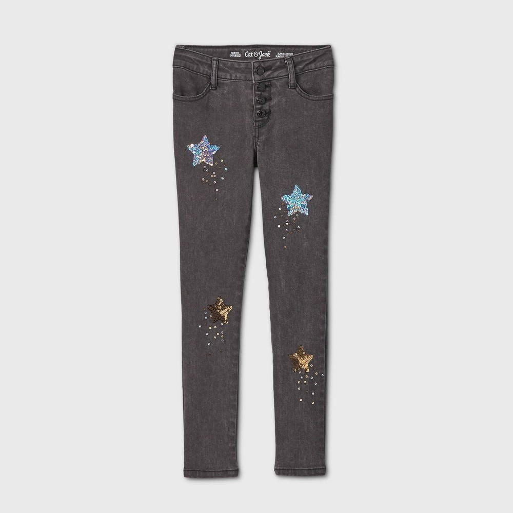 Compare Girls' Flip Sequin Star Skinny Mid-Rise Jeans - Cat & Jack™