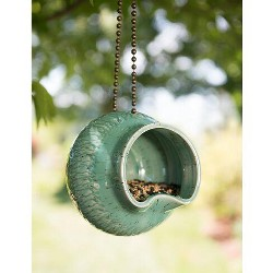 Stoneware Suzie Q Bird Feeder - Amaranth Stoneware, LTD