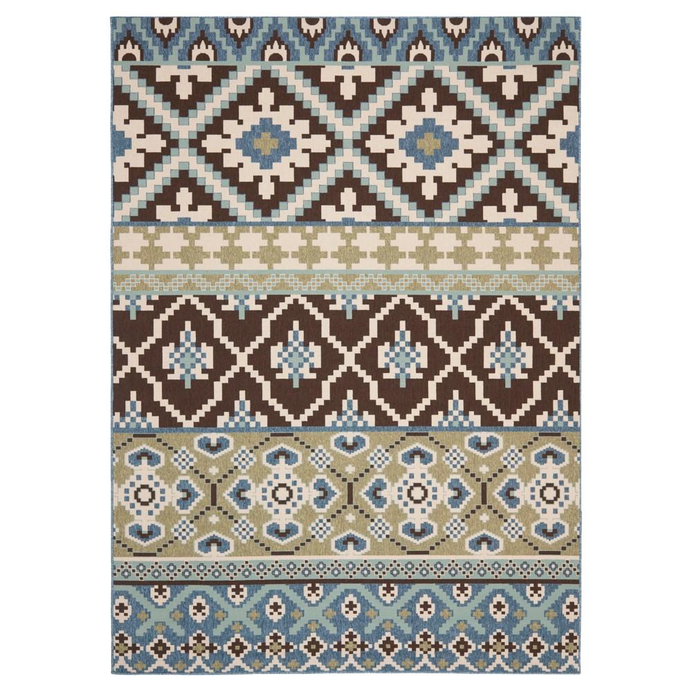 Lana Indoor/Outdoor Area Rug - Chocolate/Blue (Brown/Blue) (8'x11'2) - Safavieh