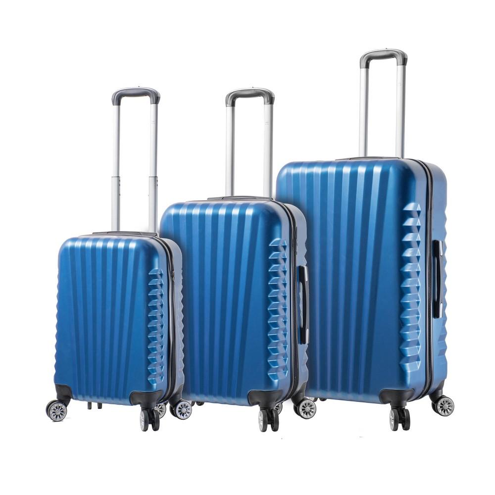 Image of Mia Viaggi ITALY Catania 3pc Hardside Luggage Set - Blue