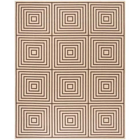 Safavieh Willow Shag Cream Dark Brown Round Indoor Machine Made Area Rug Common 7 X Actual 6 Ft Dia In The Rugs Section Of Lowes Com