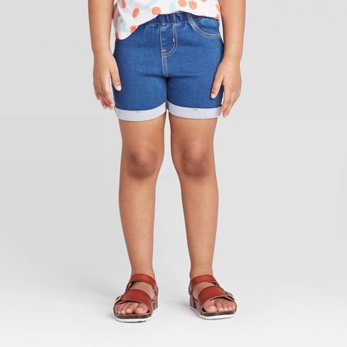 Toddler Girls' Solid Pull-On Shorts - Cat & Jack™ - image 1 of 3