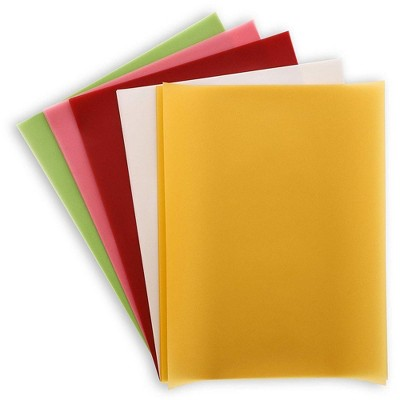 Paper Junkie 50-Sheets Assorted Vellum Paper for Card Making and Scrapbooking, 5 Colors, 8.5 X 11 inches
