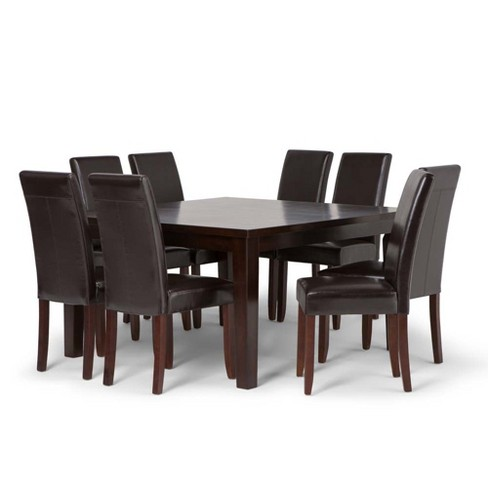 Outstanding 9Pc Normandy Solid Hardwood Dining Set Wyndenhall Squirreltailoven Fun Painted Chair Ideas Images Squirreltailovenorg