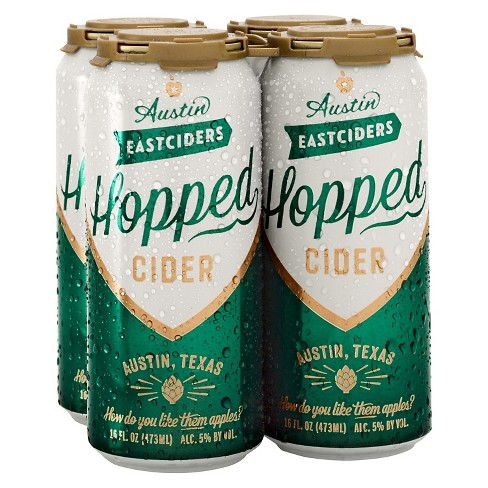 Austin Eastciders Hopped - 4pk/12 fl oz Cans - image 1 of 1