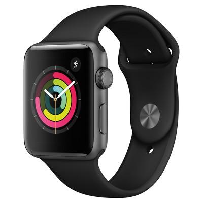Apple® Watch Series 3 (GPS)42mm Aluminum Case Sport Band - Black