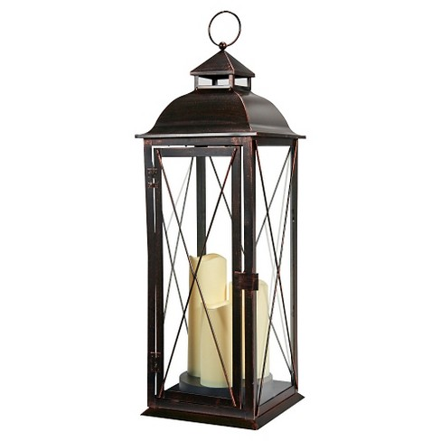 "Salerno 27"" Triple LED Candle Outdoor Lantern - Smart Living - image 1 of 4"