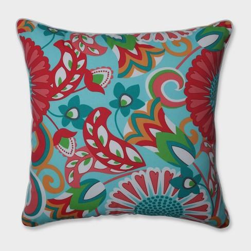 "25"" Sophia Floor Pillow Green - Pillow Perfect - image 1 of 1"