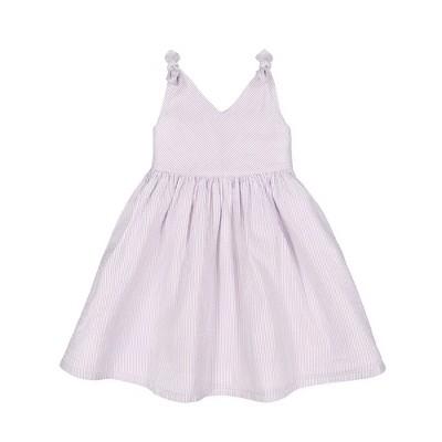 Hope & Henry Girls' Sleeveless Bow Shoulder Swing Dress