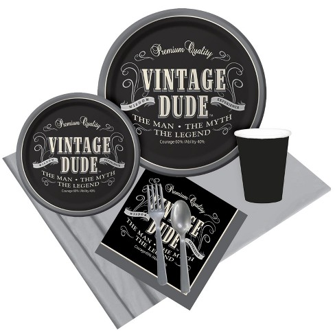 8ct Vintage Dude Party Pack - image 1 of 1