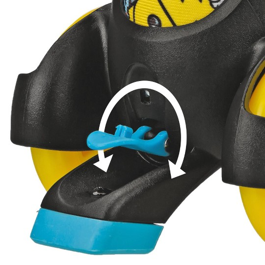 Roller Derby Fun Roll Boy's Jr Adjustable Roller Skate - Black/Yellow/Blue - Small (7-11), Boy's, Blue Yellow Black image number null