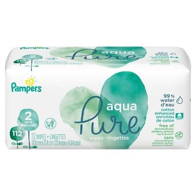 Pampers Aqua Pure Wipes - 112ct